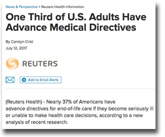 News about advance directives
